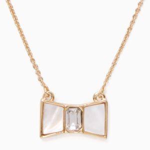 NWT Kate Spade mini bow shoppe necklace